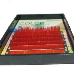 Mink de Seda ROJO Diametro 007 Tallas Mix (9-9-11-11-13-13) Curva B (ROJO-007-MIX-B)