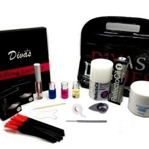 Kit Lifting de pestañas DIVAS 2 Lash Up+Tinte NEGRO/AZUL (ojo no es el tinte de la foto)